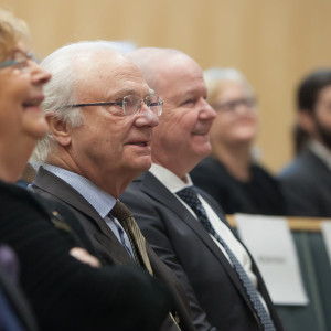 The Swedish King attends a TBI lecture. , Feb 2017. By S. Jönsson