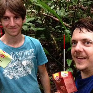 Florian and Thomas (Univ. of Vienna) in Costa Rica, Summer 2013. By unkown